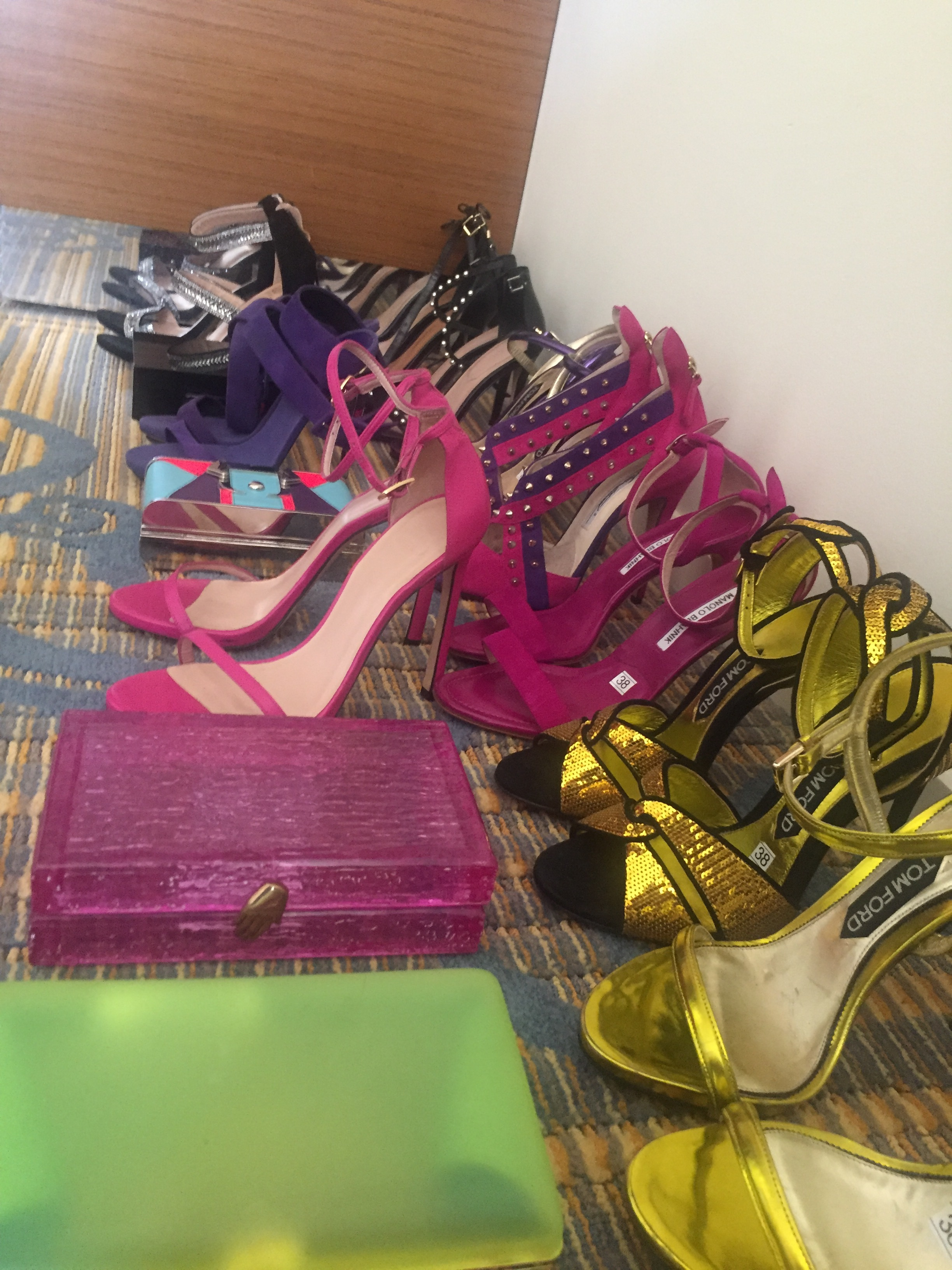 Grammy clutch and shoe options
