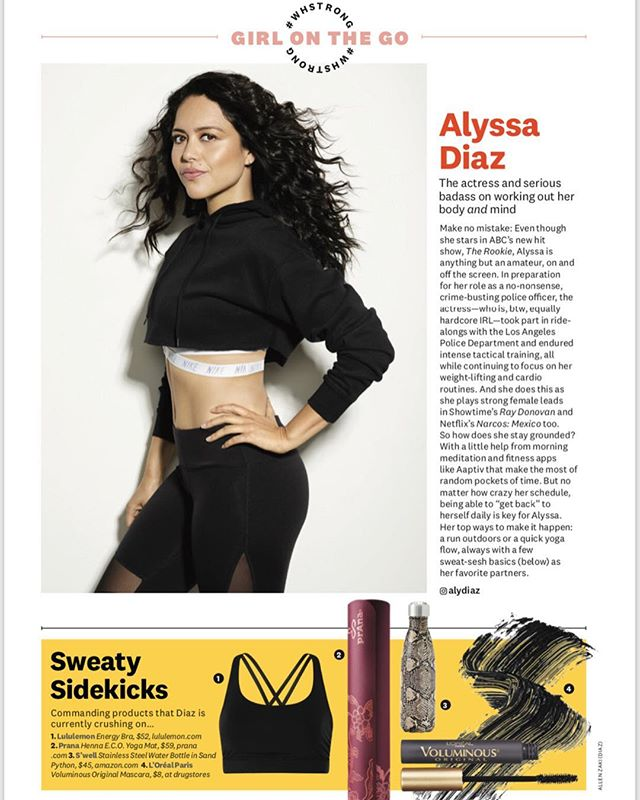 @alydiaz for @womenshealthmag #whstrong 💗 Photography @allenzaki Styling #catwrightstyle Hair @claytonhawkins Makeup @shannonpezzetta