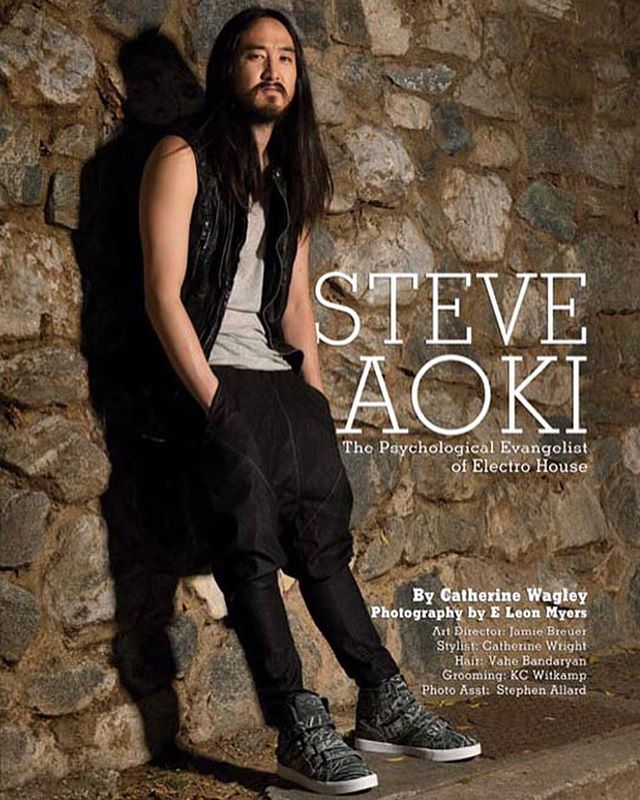 "Throwback to one of the very first shoots and covers that I ever styled with photographer @eleonmyers and @steveaoki 💫 Peep that ""Catherine"" OG credit haha #tbt"