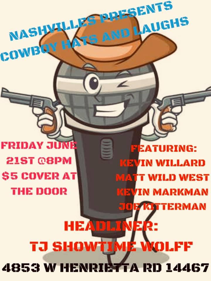 Cowboy Hats and Laughs Comedy Night at Nashvilles.