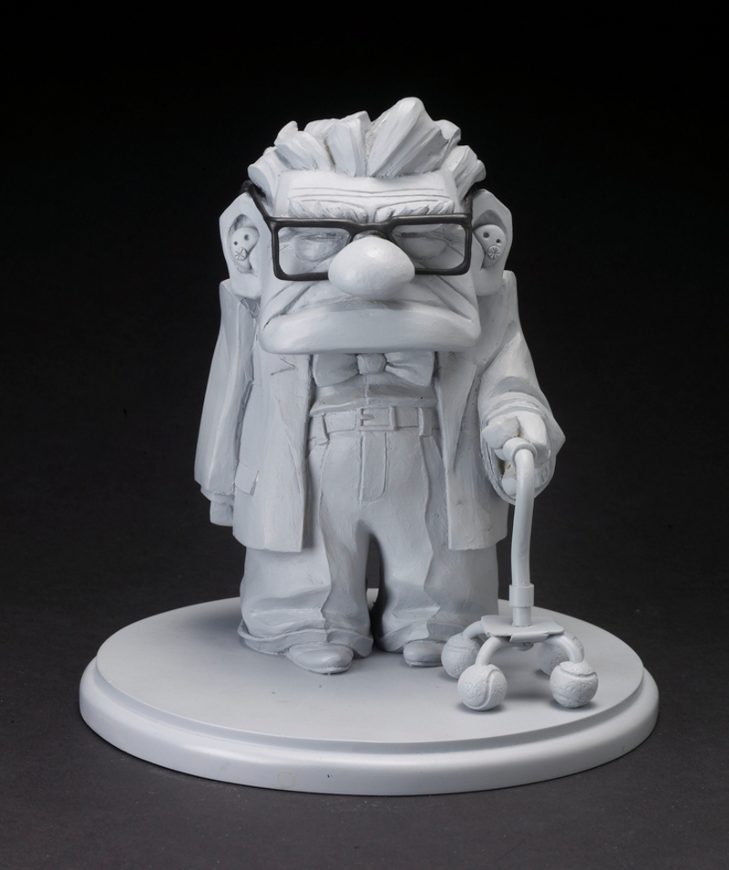 A grumpy looking Carl from UP! Sculpture by  Greg Dykstra  (2009) (Pixar Studios)