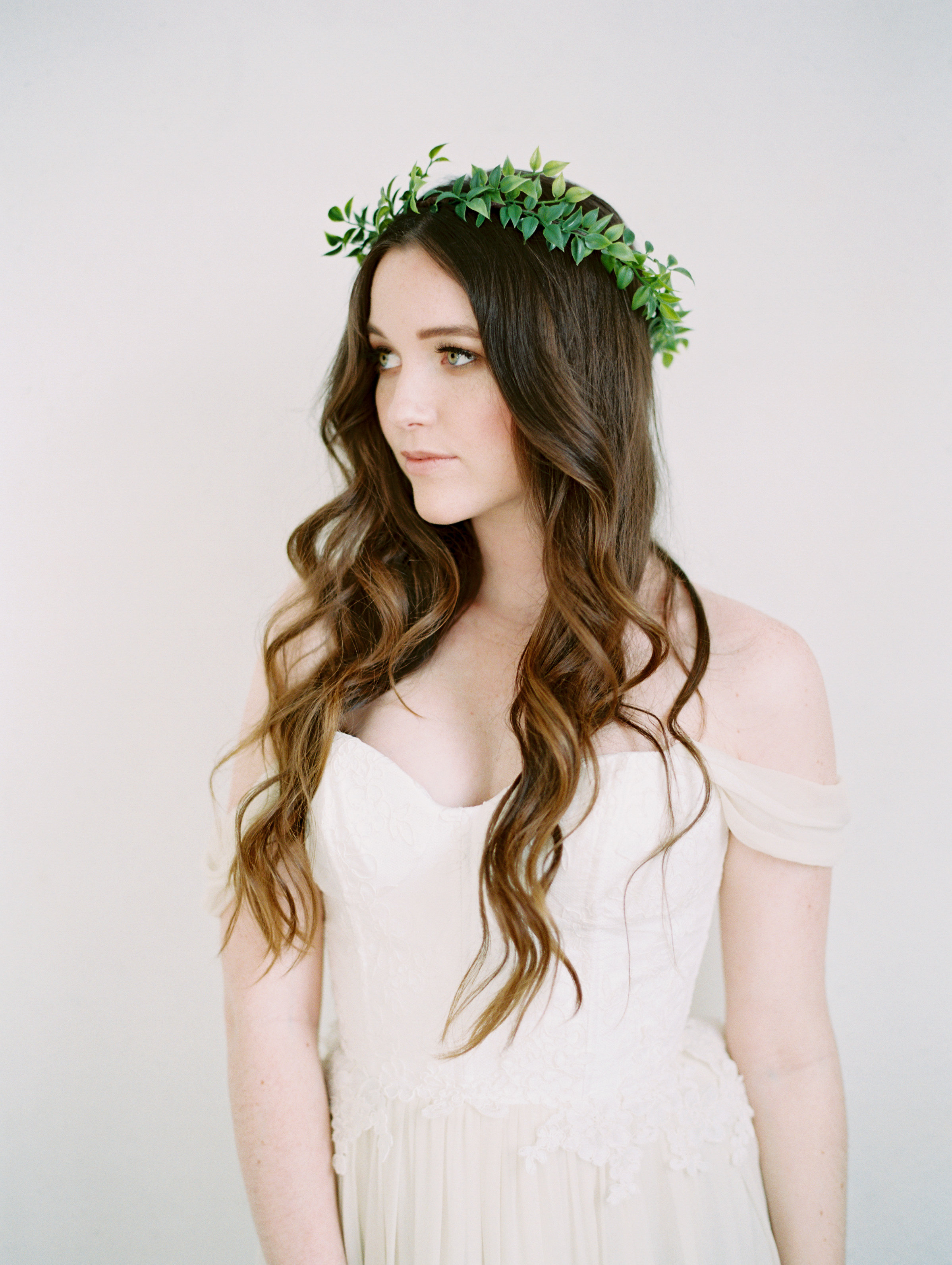 leaf greenery crown