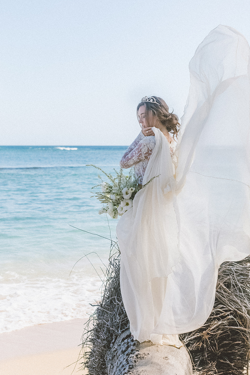 seashellcrown beachbride