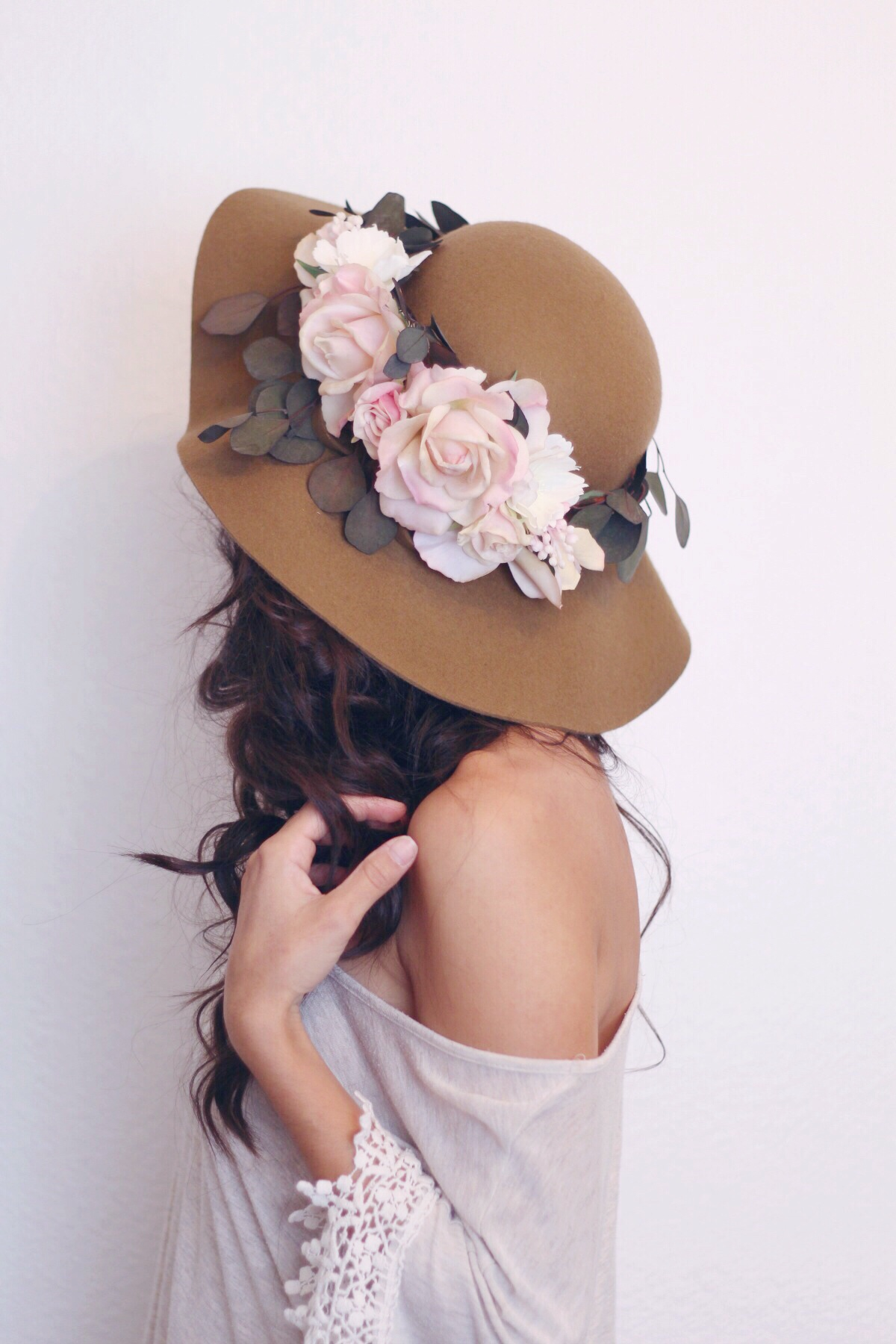 flower crown hat created by Love Sparkle Pretty for boho brides