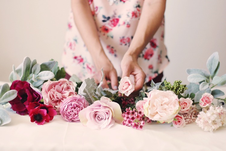 silk faux flowers vs real flowers. why fake is better.