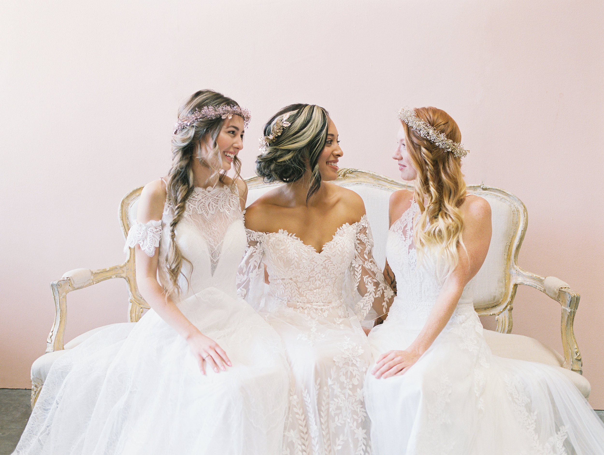 bridal hairstyles flower crowns by love sparkle pretty