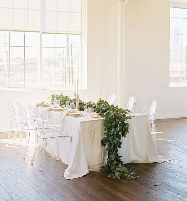 greenery-wedding-inspiration-eucalyptus-runner