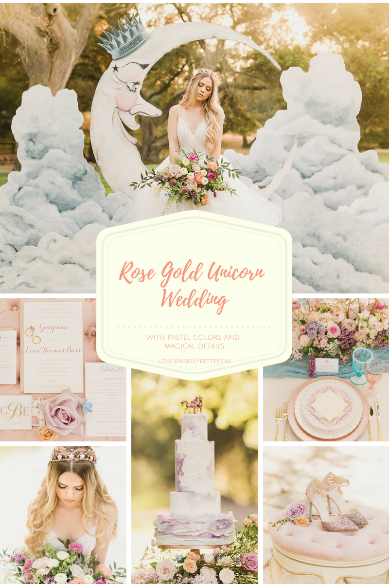 Rose Gold Unicorn Styled Shoot with Pastel Colors and Magical Details