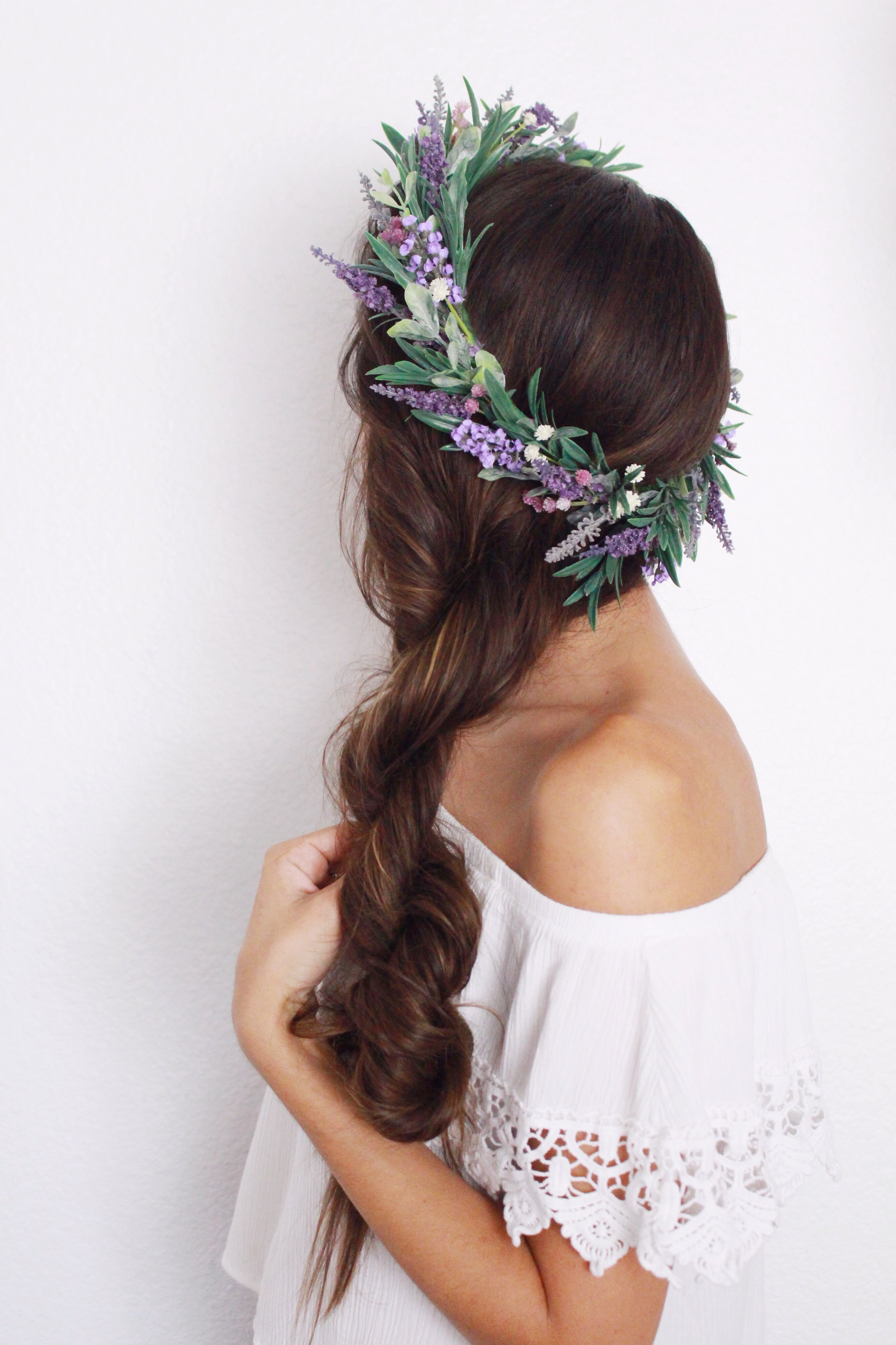 lavender flower crown workshop in orange county california