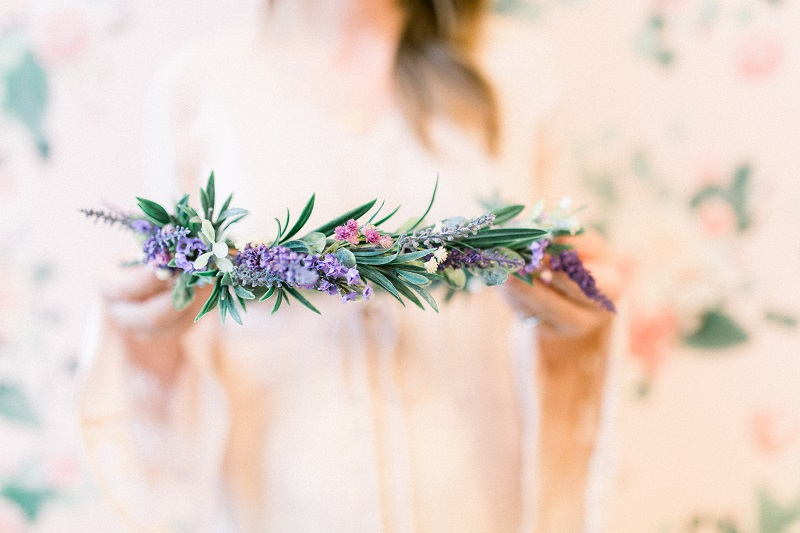 Flower Crown Workshop with Love Sparkle Pretty in Southern California at Morning Lavender