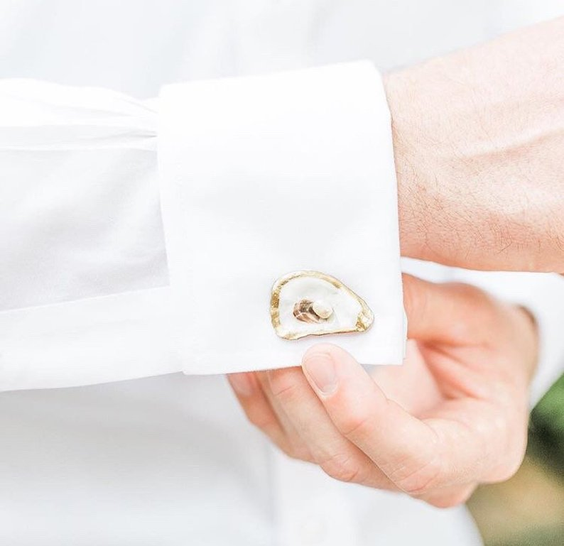 12 essential coastal wedding ideas oyster cufflinks