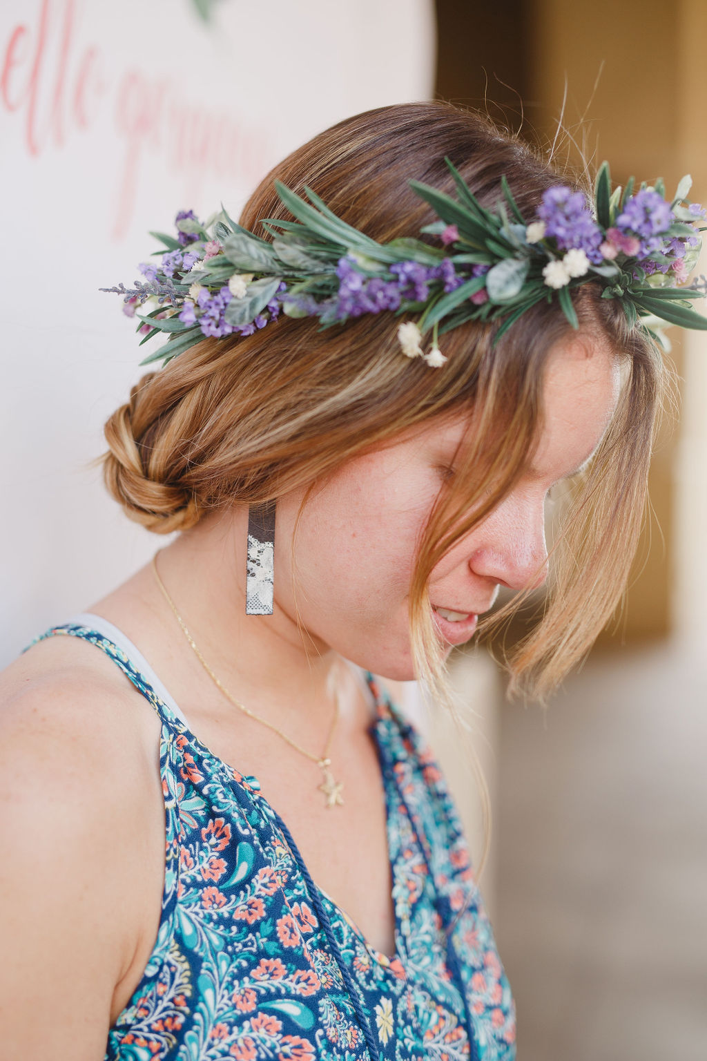 flower crown workshop in southern California by Love Sparkle Pretty to provide clean water for World Vision