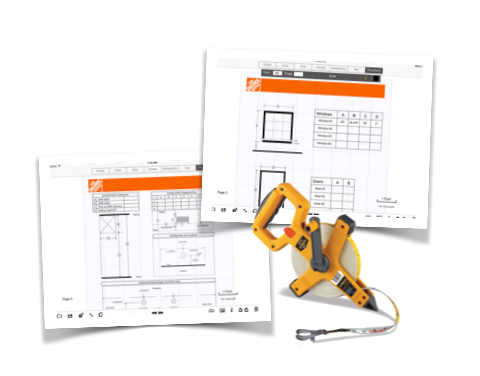Examples from the Home Depot - Kitchen Design Packet created for Metropolitan Renovations.