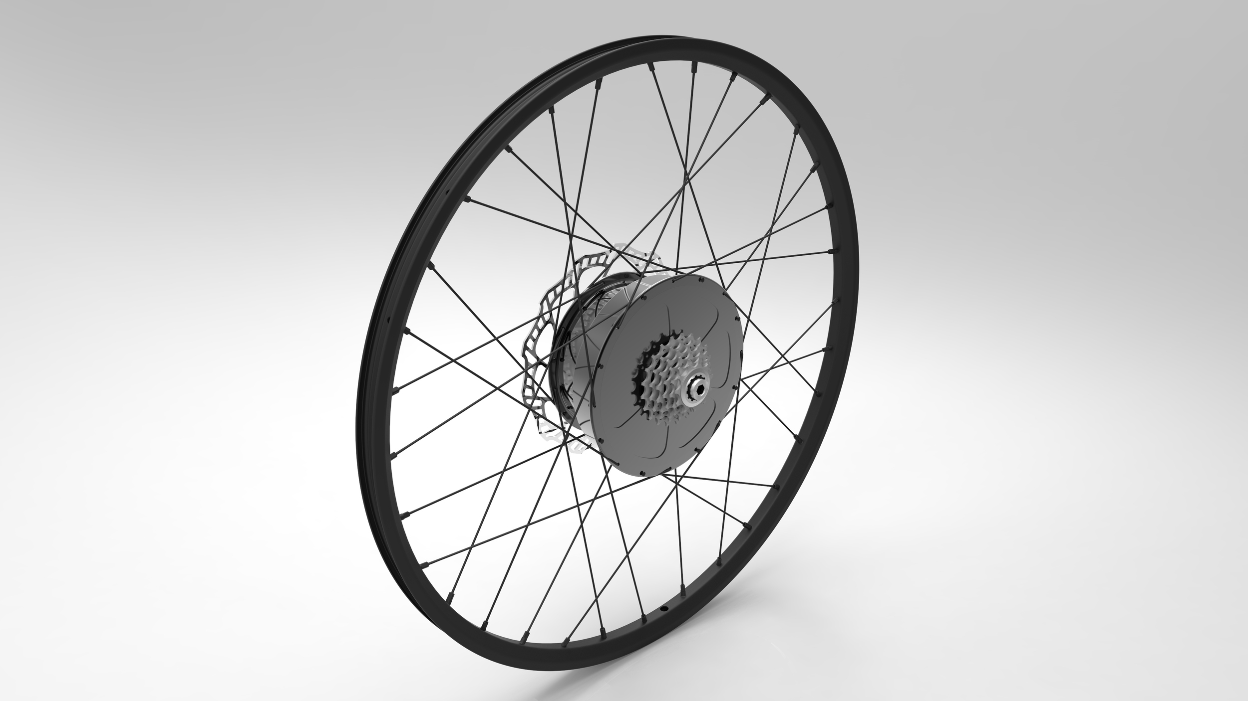 E-Wheel™ complete assembly (Is­­o top right view)