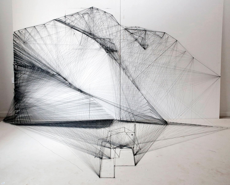 Materials:  Black thread,   Creation Date:  2015