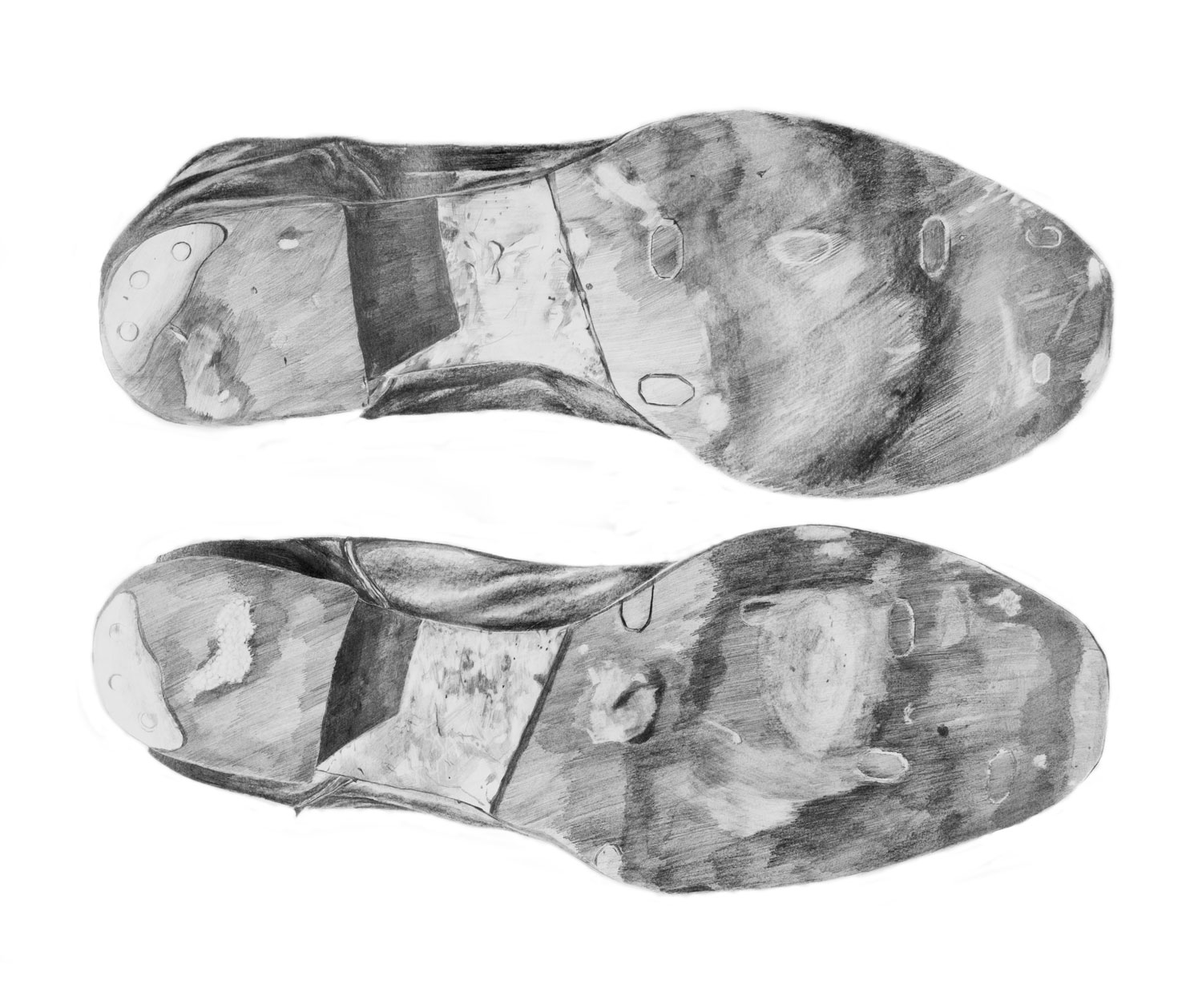 Shoes   Materials:  Graphite on paper   Date of Creation:  2010