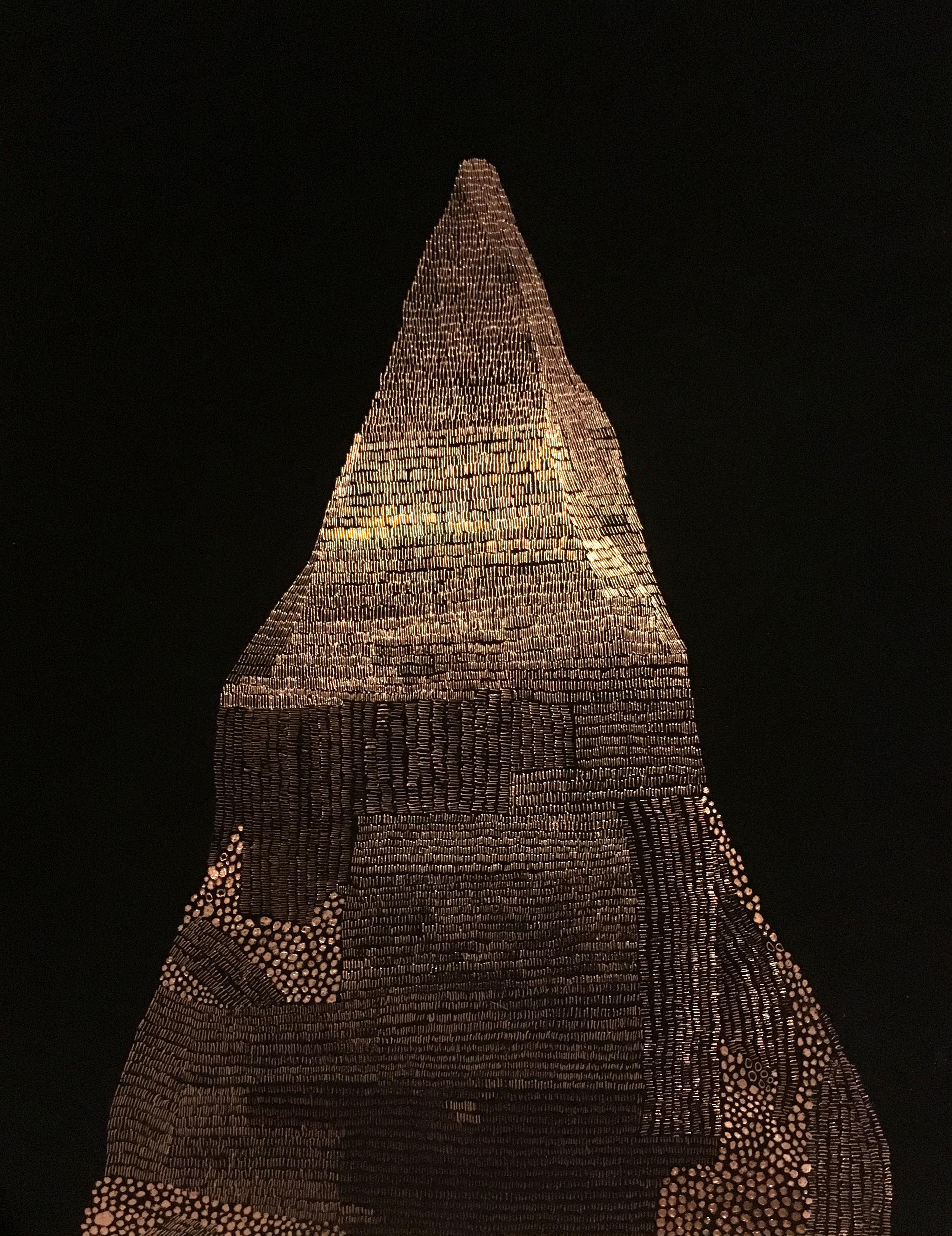 Kimberley Termite Mound  Black Enamel Paint Incised Copper Sheet