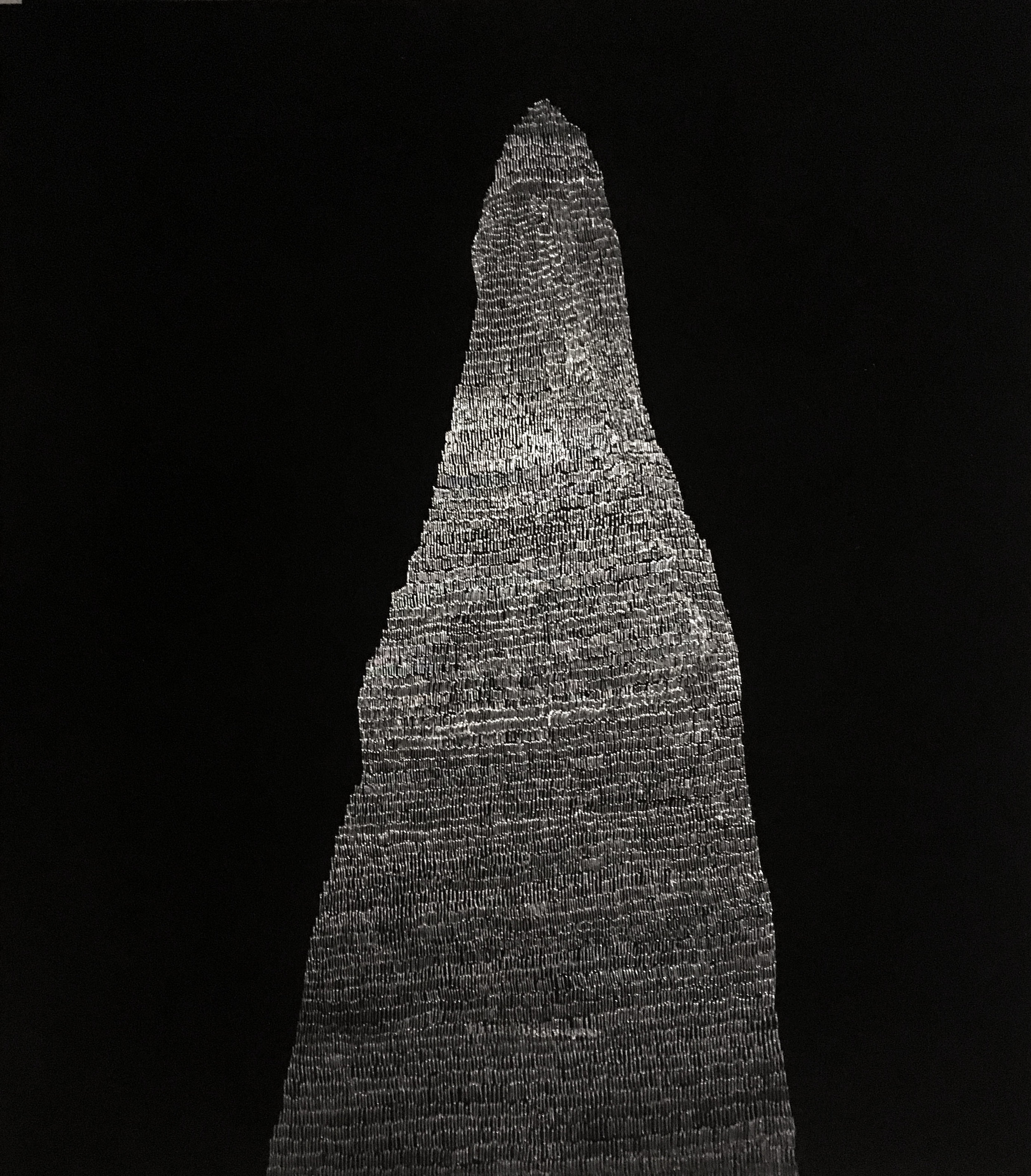 Kimberley Termite Mound  Black Enamel Paint Incised Aluminium Sheet.  Sold