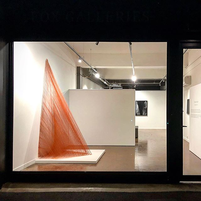 Driving down Langridge street in Collingwood, Melbourne today take a peek in the window of @fox_galleries opening tonight at 5pm!! #kmberley #termite #mound #thread #naturalpigment