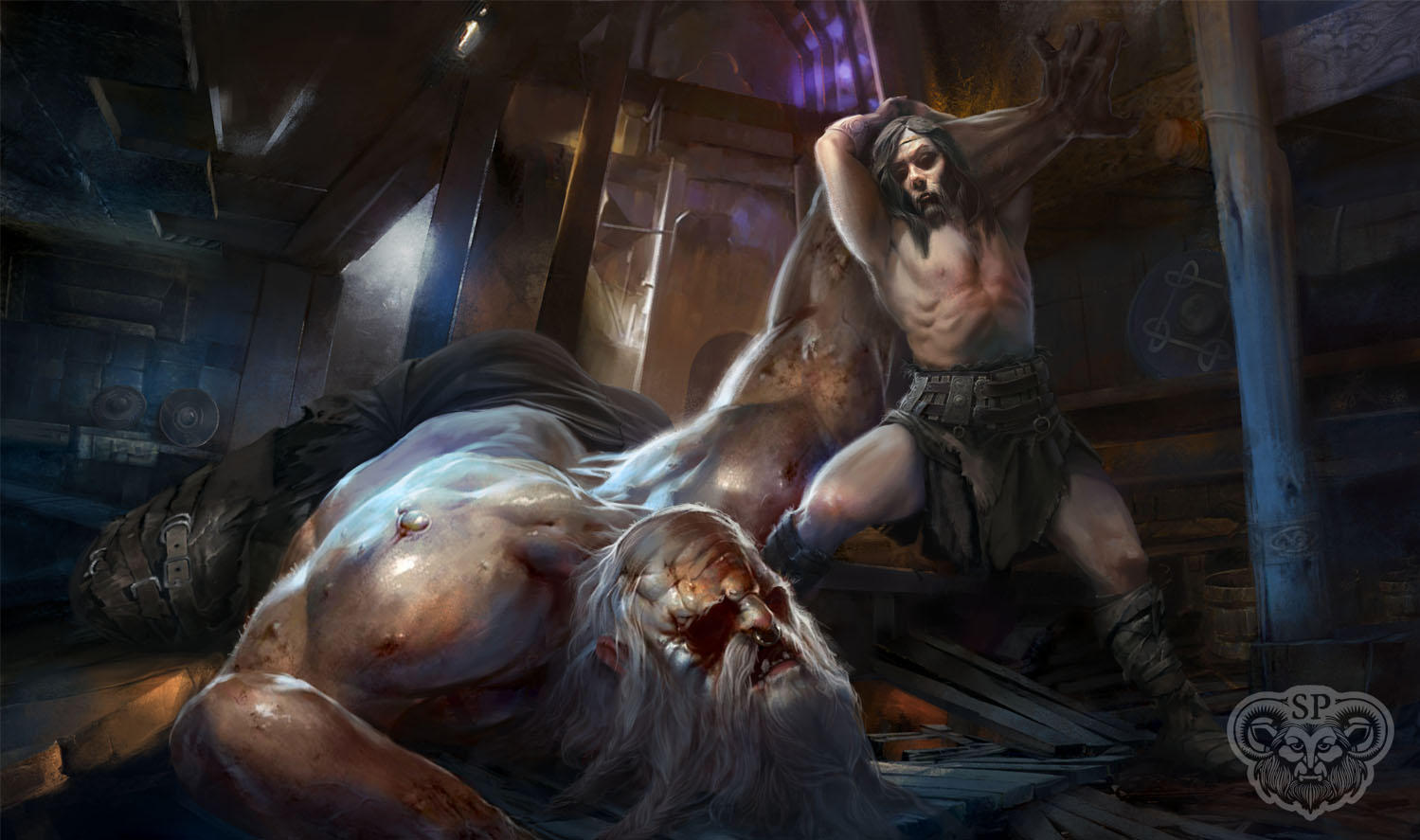 Art by Paolo Puggioni. Designed for Beowulf: A Mythosymphony by Satyr Productions.