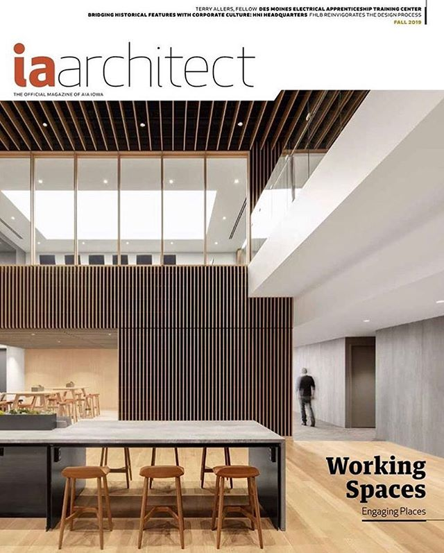 On the cover of the new @iowaarchitectmagazine Fall 2019 issue.