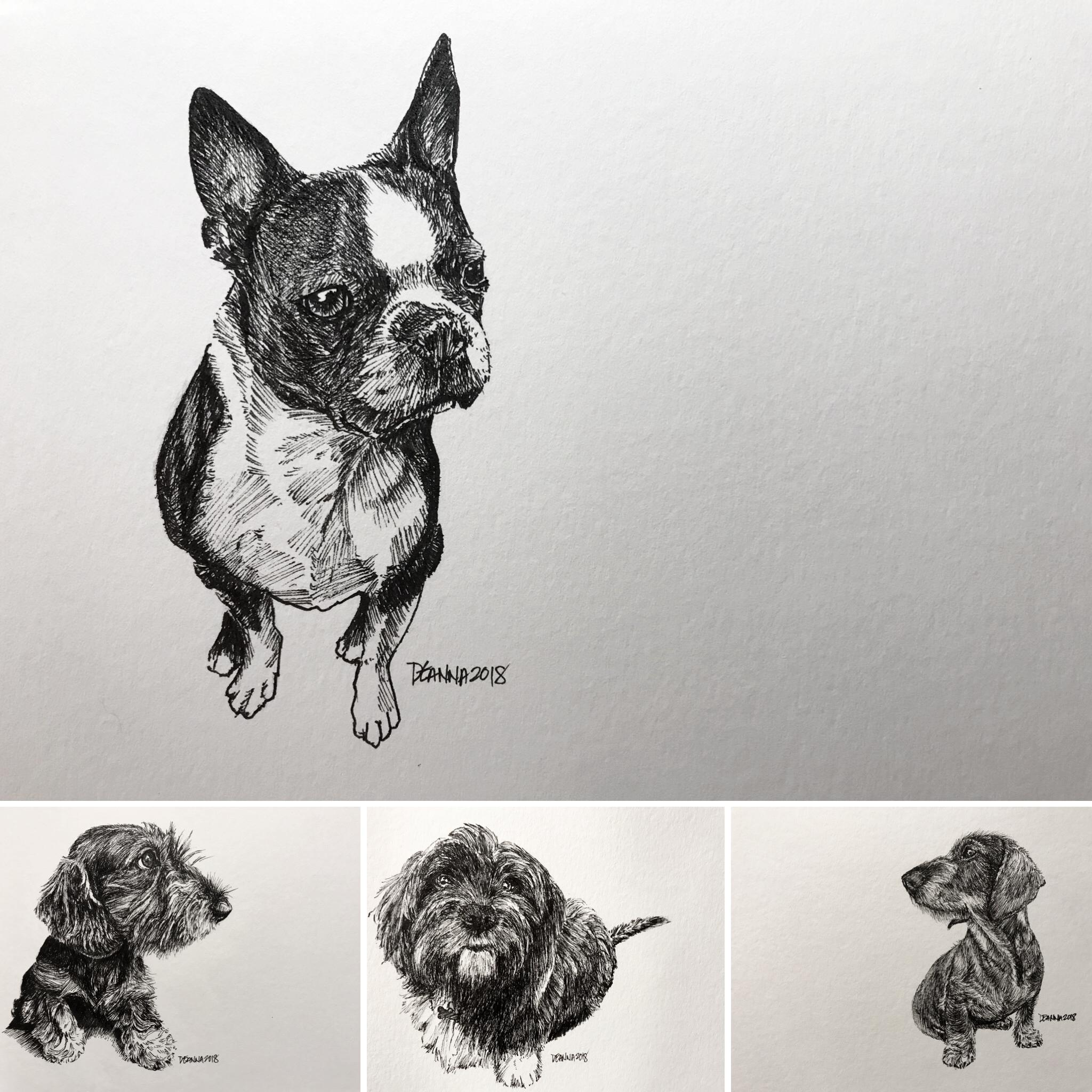 "6""x9"""" shown | Minimalist Ink Portrait"