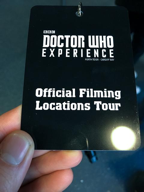 TARDIS Set Tour lanyard