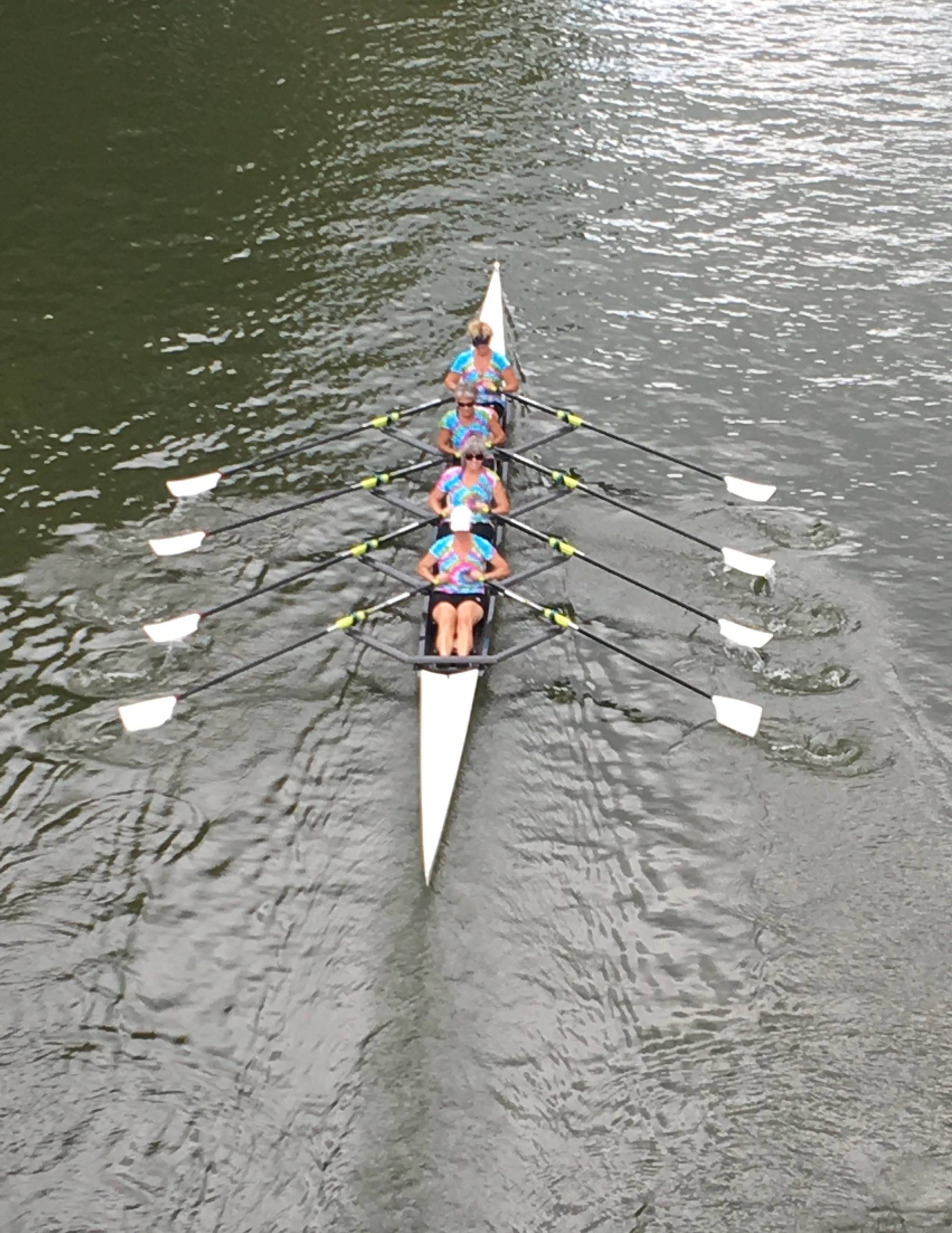 Pittsburgh Rowing Club Masters Women's 4x Head of the Ohio 2016