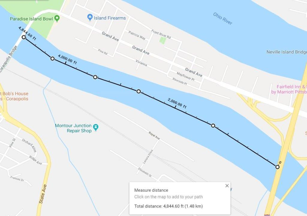 NEVILLE ISLAND BRIDGE 1,480 METERS