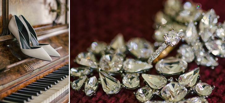 A dash of bridal bling . . . . . . .
