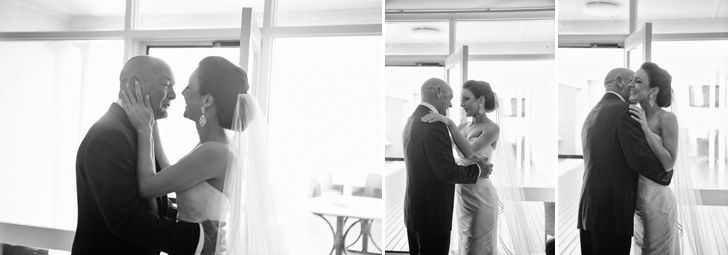 A father's emotional first glimpse of his daughter as a beautiful bride