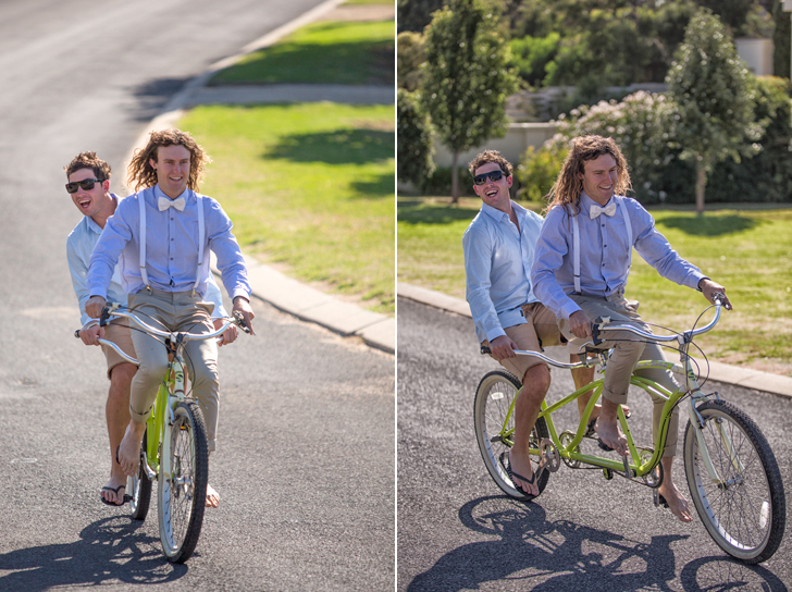 However, there   may  have been a few high jinks involved at some time during preparations. Involving a tandem bicycle.