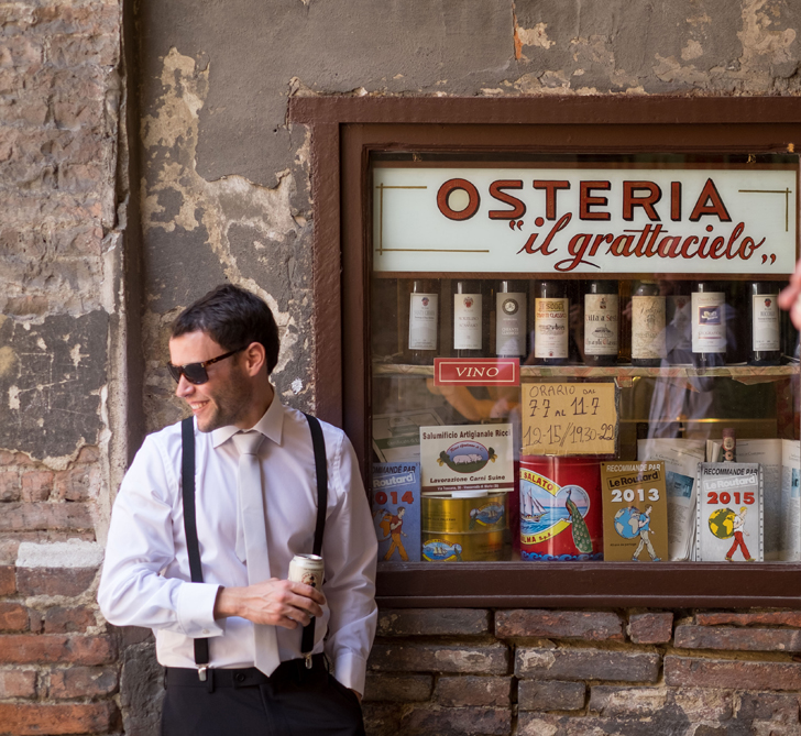 The little cobbled streets had little treasures around every corner – just like this Osteria – and gave a whole new meaning to 'street photography'.