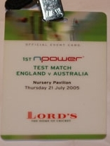 Test Match Lords  England Vs AUS