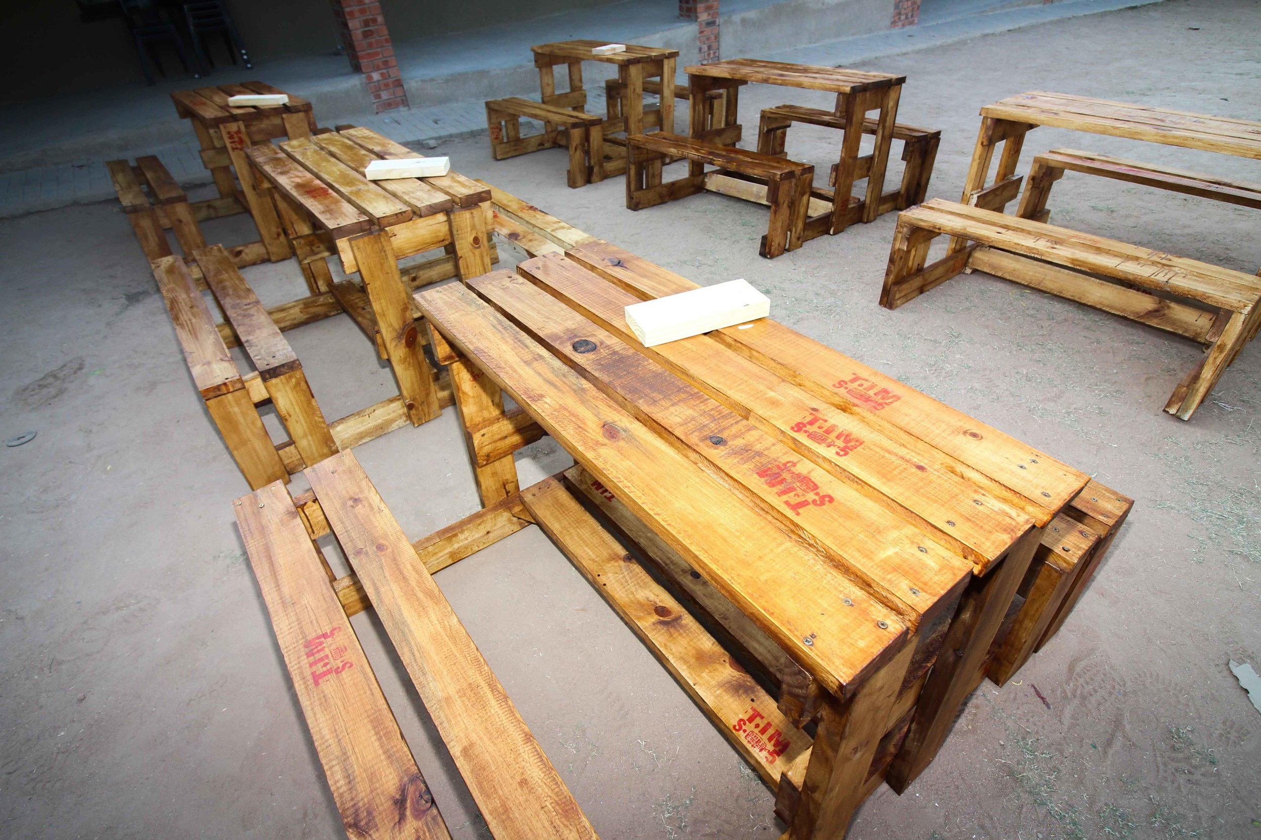Building outdoor benches