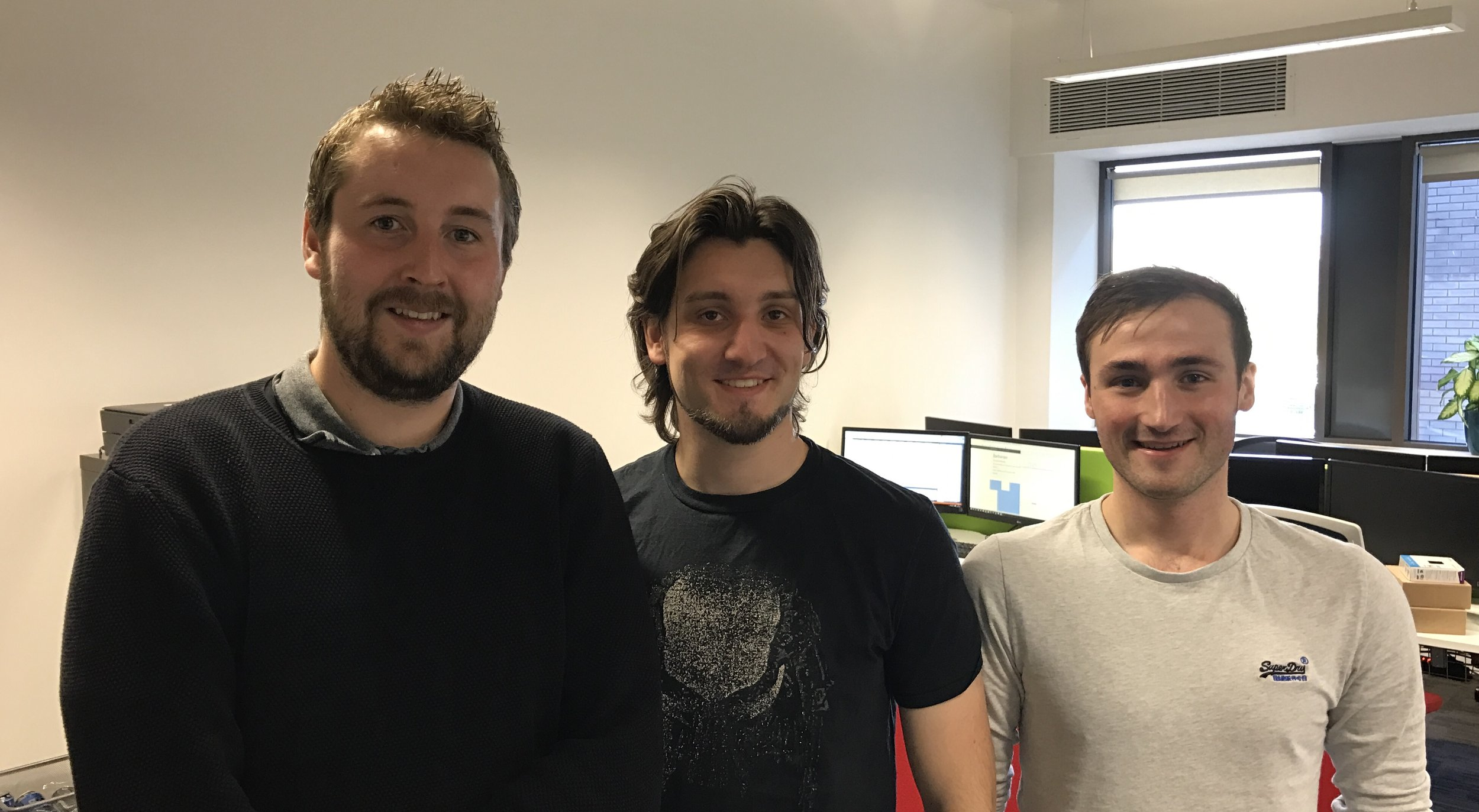 MD, Aaron, picture here with Dave and Dave, new staff member and intern.