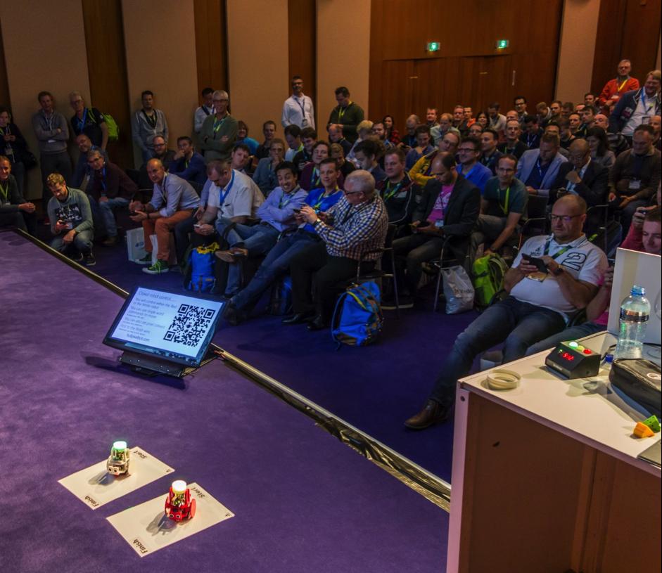 HullPixelbots racing at Microsoft Techdays!