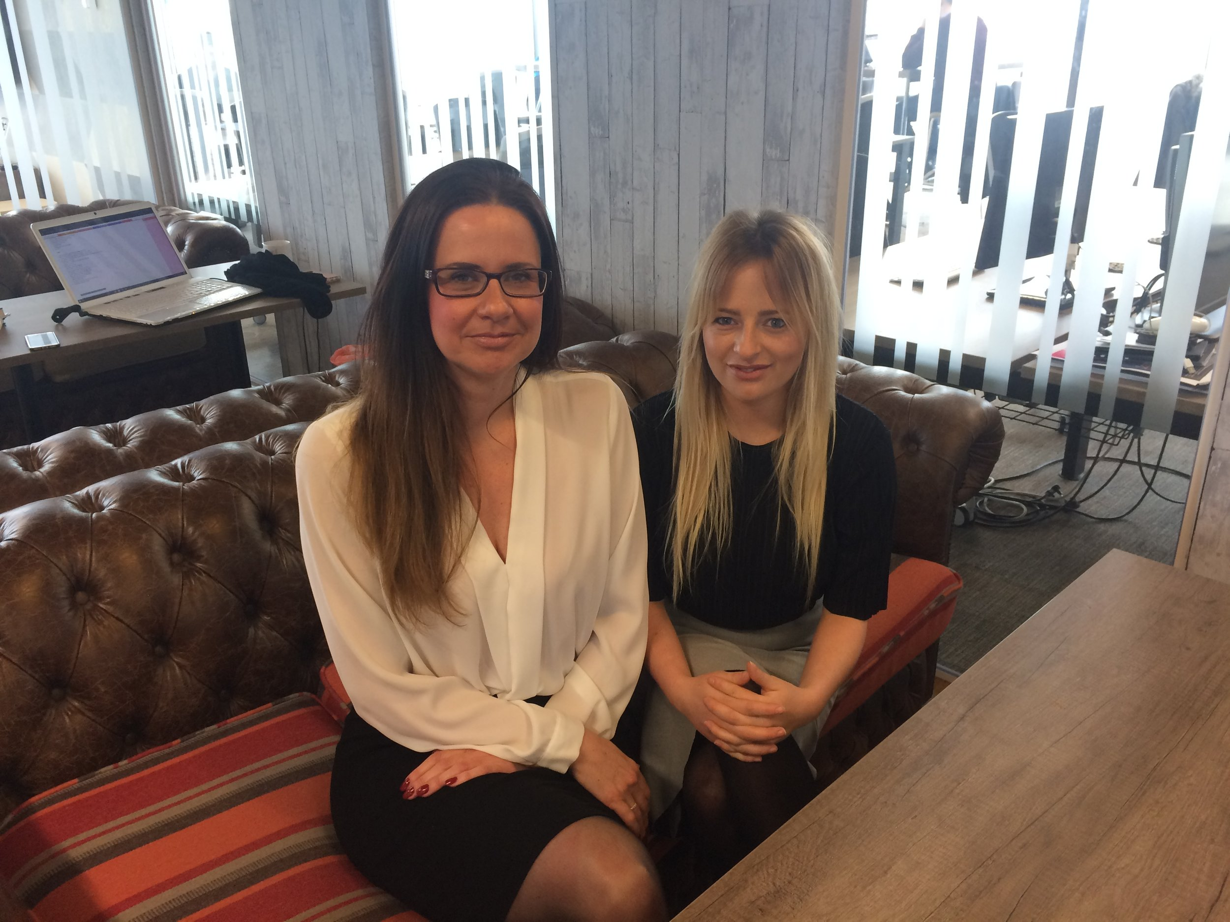 Louise Cooke of echo digitalcreative, and new partner Emily Culver