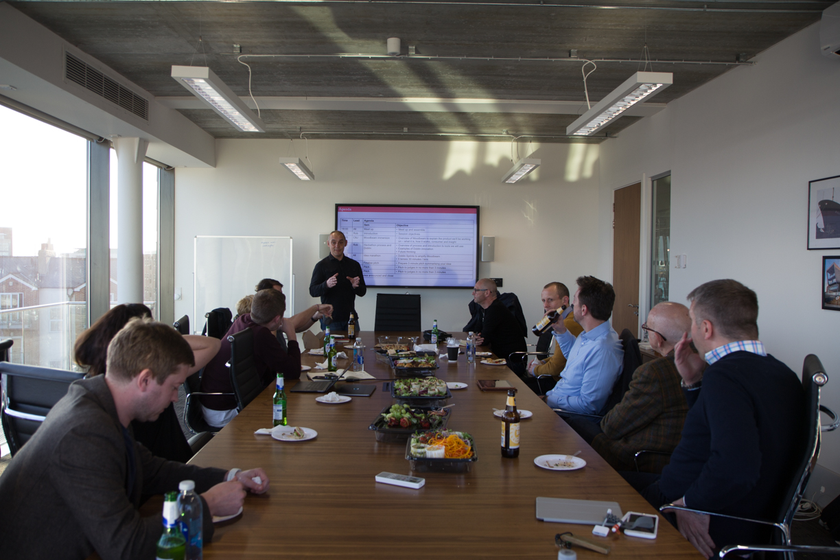 The Moodbeam hackathon, hosted by Rob Lewis of 54 Degrees North