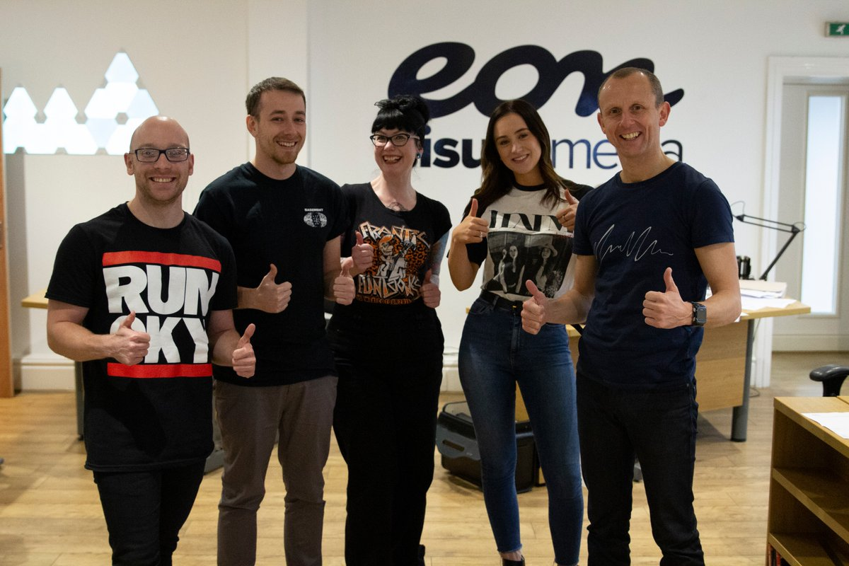 Always up for some creative fun, the Eon Visual Media team take part in #TShirtDay in November 2018.