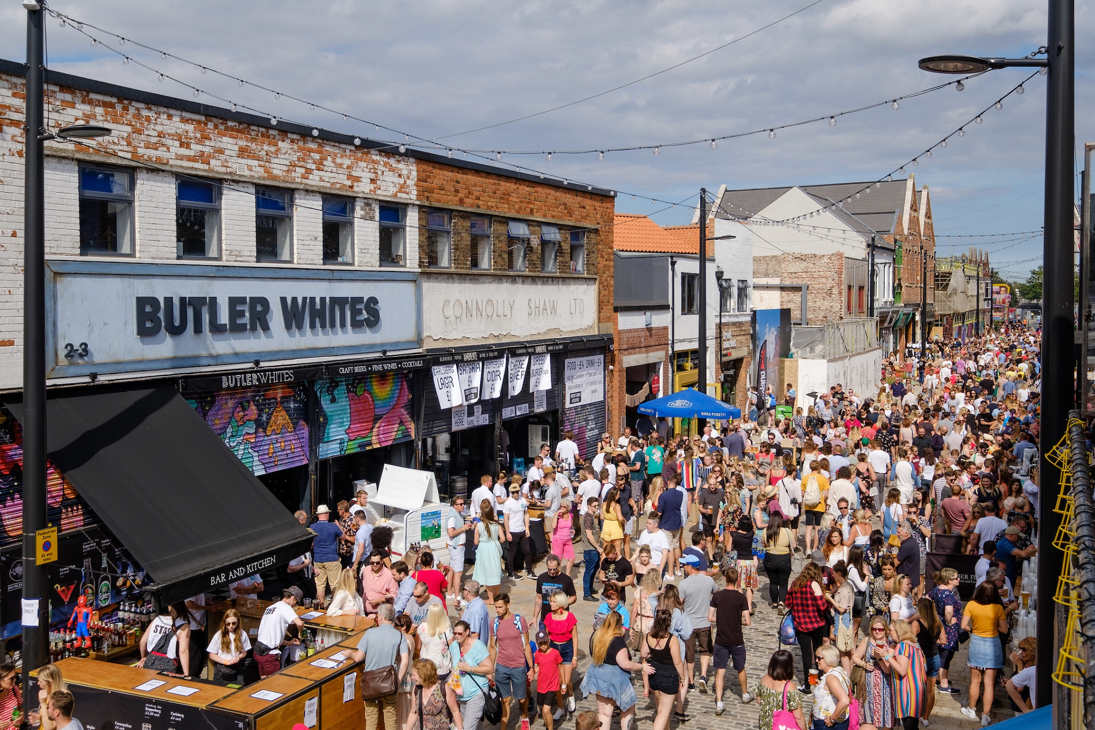 Crowds in Humber Street during last year's Humber Street Sesh. This year businesses will be open the full length of the street for the first time.
