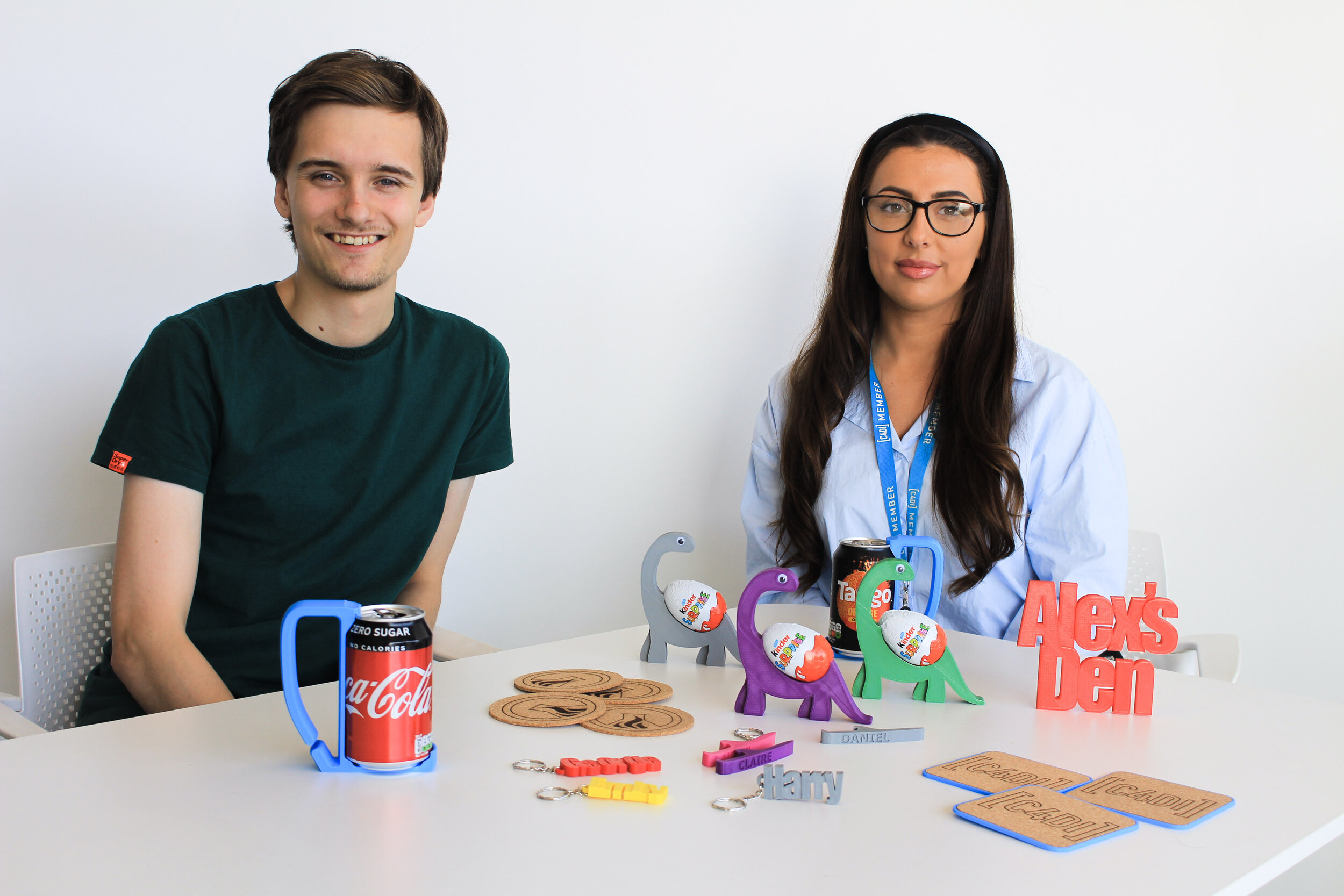Alex Youden, Founder of NFire Labs (left) and Alexandria Hanson, NFire Angel (right) pictured with some of their products from the new NFire gift range.