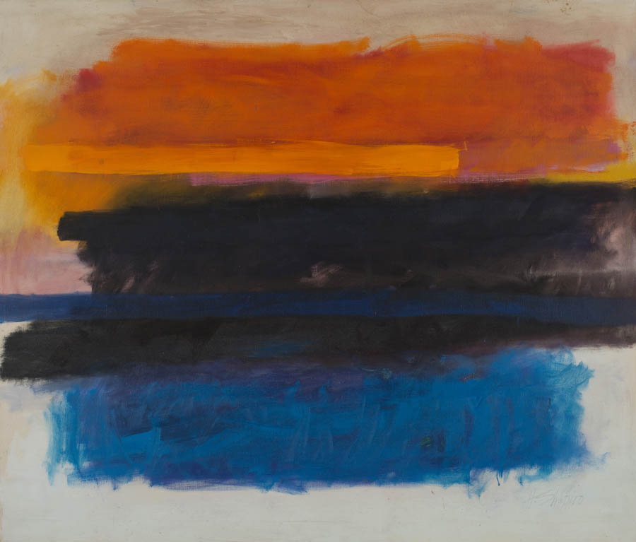 Merging Blue, c. 1960s, Oil on Canvas