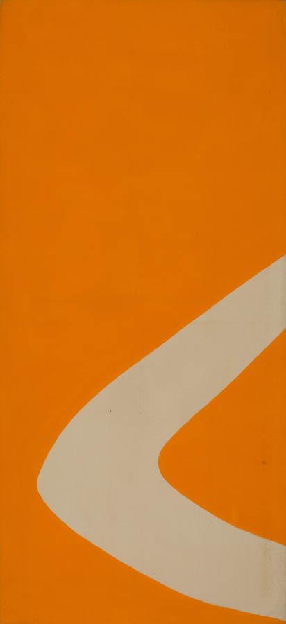 Gestures (Orange), 1970, Acrylic on Canvas