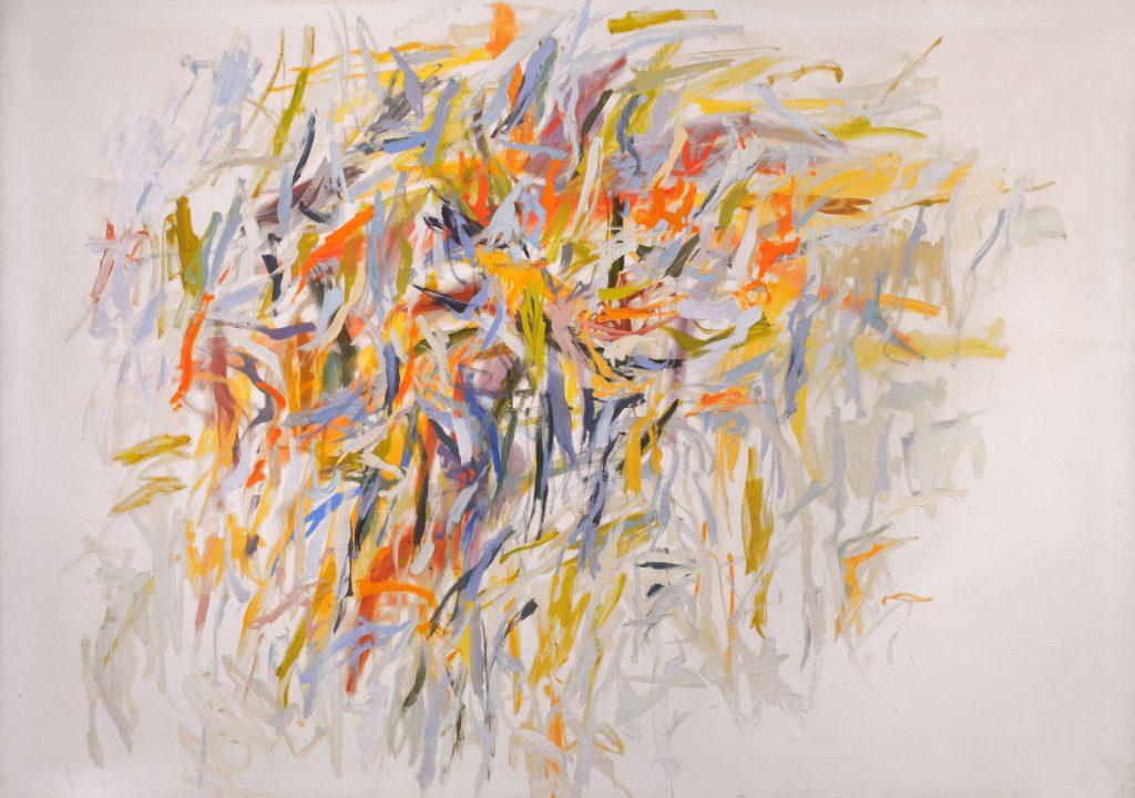 Hilda Shapiro Thorpe,  Changing Seasons,  c.1960s, oil on canvas, 52 x 72 in.   Making a Scene: Jefferson Place , American University Museum at the Katzen Arts Center, American University, Washington, D.C., September 5 - October 22, 2017.