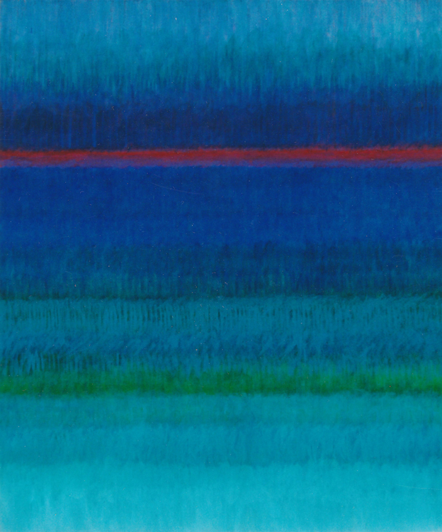 Hilda Shapiro Thorpe,  Untitled  (detail) ,  c.1970s, acrylic on canvas, 72 x 60 in.   Hilda Shapiro Thorpe , Thomas H. and Mary K. Williams Gallery, Delaplaine Fine Arts Center, Mount St. Mary's University, Emmitsburg, Maryland, February 1 - March 8, 2018.