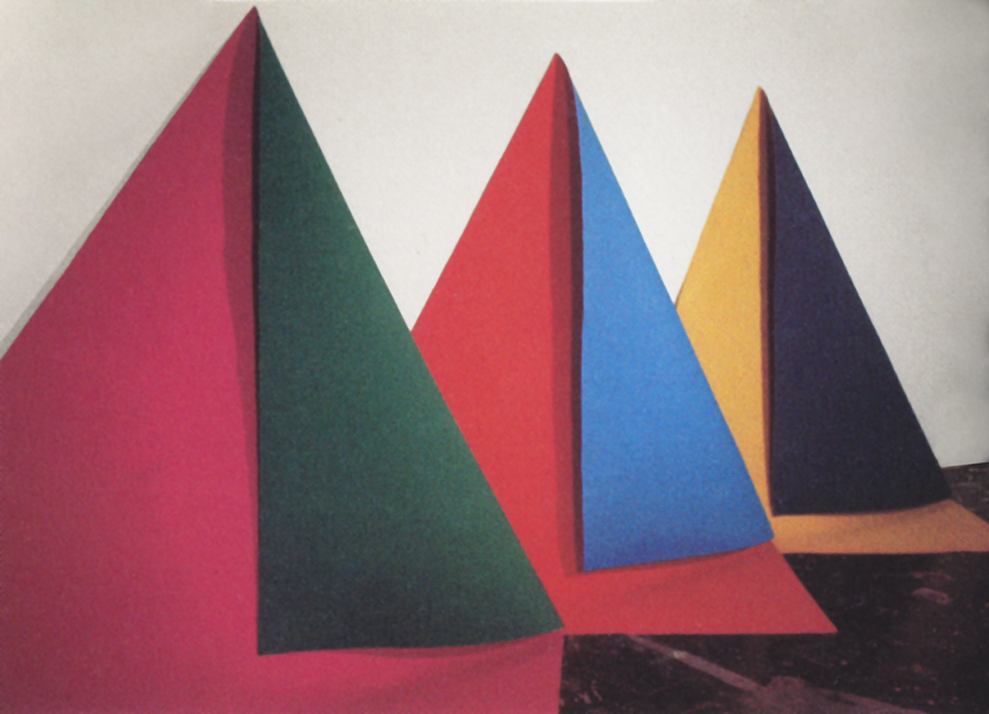 Threefold, 1972, Acrylic Painted Canvas