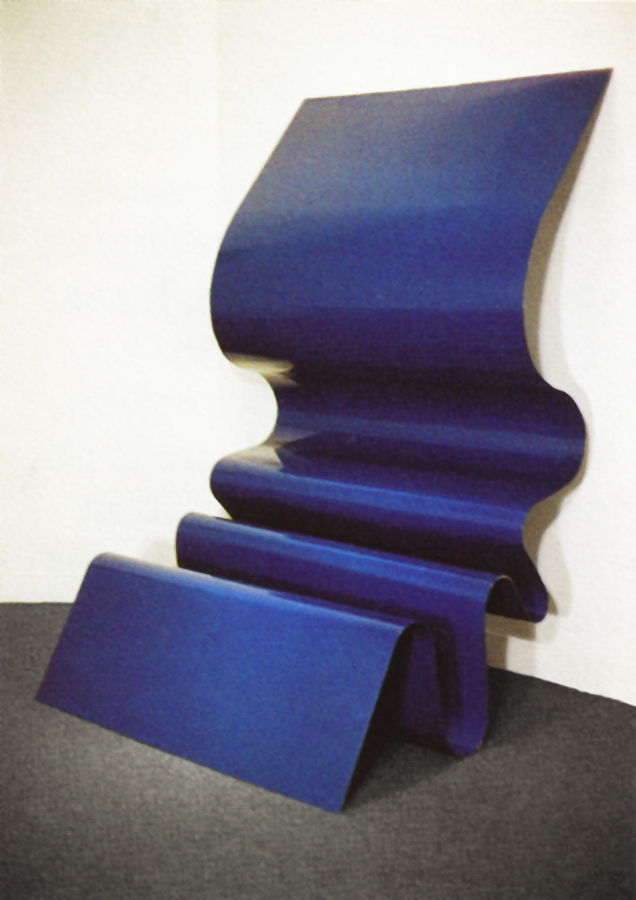 Blue Wave, 1969, Painted Aluminum