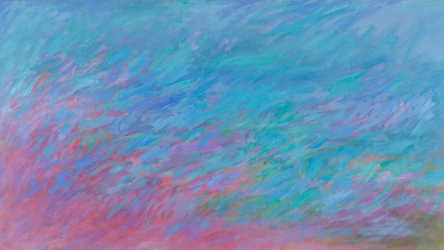 Santorini Sea, 1991, Acrylic on Canvas