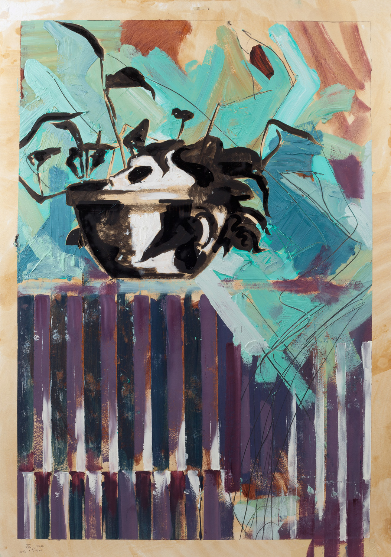 Samson, Oil on paper 100x80 cm, 2013